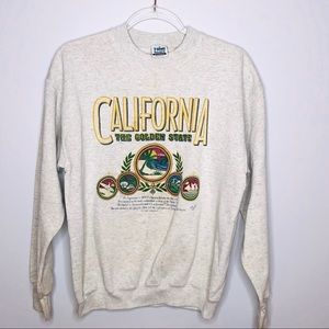 Vintage California Crewneck Sweatshirt Large USA